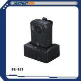 SenkenのGPSの造りの小型サイズの警察の警備員ボディWオレンジデジタルIPのカメラ