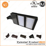 O UL Dlc IP65 substitui a luz do diodo emissor de luz Shoebox do alogenuro 200W do metal 400W