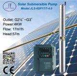 '' pompe à eau solaire submersible de l'acier inoxydable 6