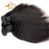 100%年のバージンの人間の毛髪のビルマの毛のねじれた直毛の拡張