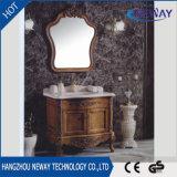 Nueva vanidad antigua del cuarto de baño de madera sólida de la cabina del baño del suelo