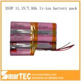 Naar maat gemaakte 11.1V 7.8ah Battery Pack 3s3p 18650 met BMS