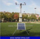 Fora da estação de tempo solar da monitoração meteorológica