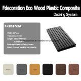 Decking extérieur en plastique en bois du composé WPC de bande de phosphore