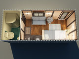 Дом вмещаемости кабины контейнера конструкции Morden Prefab