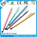 Pluma publicitaria en colores pastel plástica delgada de la aguja de la aguja para el equipo del panel de tacto