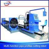Machine Drilling de coupeur de trou de plasma de commande numérique par ordinateur de tube de grand dos de pipe de soudure