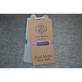 Jeans Clothing/Apparel를 위한 Kraft Paper Swing Tag
