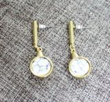 Комплект круглого ожерелья &Earring с светотеневым камнем