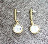 Просто и шикарный черный/белый каменный комплект серьги & ожерелья