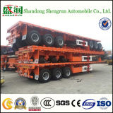 대량 Flatbed 20FT 40FT Container Shipping Cargo Trailer