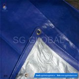6FT*8FT Blue Silver PE Tarpaulin Covering Sheet
