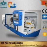 Tubulação máxima do CNC do diâmetro 219mm do Workpiece Qk1322 que rosqueia o torno