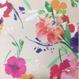 印刷の花が付いている2.0mmの厚さの方法倍の表面PUのハンドバッグの革