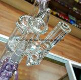Tubo de agua que fuma de cristal excelente con Niza el tazón de fuente de cristal