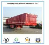 3개의 차축 반 트레일러의 빨간 상자 트럭 트레일러