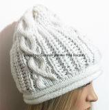 Gorrita tejida de encargo del diseño de la insignia del sombrero de la gorrita tejida de la promoción de la alta calidad