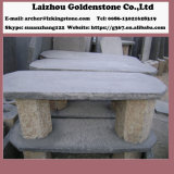 庭の景色の石および庭のテラスの玄武岩の石表およびベンチの家具セット