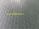 Le mattonelle di gomma del campo da giuoco, riciclano le mattonelle di gomma, mattonelle di pavimento di gomma