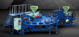 Máquina dobro giratória da modelação por injeção do sopro do ar da cor do PVC