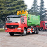 Carro de basura cargado trasero de la compactación de Sinotruk HOWO 6X4 18m3