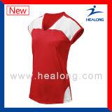 Voleibol sin mangas Jersey de la sublimación de la ropa del diseño de la manera de Healong