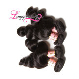 Weave человеческих волос Remy оптовой норки естественный сырцовый индийский