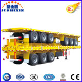 3axles semi-remorque de conteneur du lit plat 40FT