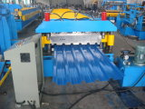 Rodillo del panel de la azotea de la hoja de acero del color de Dx 750 que forma la máquina con la cadena de producción