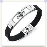 Form-Schmucksache-Edelstahl-Schmucksache-Silikon-Armband (LB586)