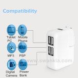 4 de multiLaders van de Muur van de Reis van de Output van Havens USB voor Al Mobiele Telefoon