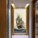 卸し売り高品質の装飾の油絵、ホーム装飾の絵画、芸術の絵画(抽象的な航行の油絵)