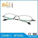Blocco per grafici di titanio di vetro ottici di Eyewear del monocolo dell'ultimo Pieno-Blocco per grafici di disegno per la donna (9301)