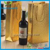 Sac de papier de vin promotionnel respectueux de l'environnement pour l'emballage et le module