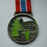 Soft su ordinazione Enamel Marathon Running Medal con Plain Ribbon