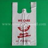 Sacs en plastique de T-shirt estampés par coutume pour des achats