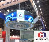 Visualizzazione di LED di gomma della curva di alta risoluzione per gli eventi, Tradeshow
