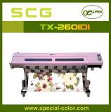 二重Dx5印字ヘッドファブリック織物のカラープリンターTx-2601di