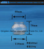 Round Clear Knell Gravel bank for Candle Holder