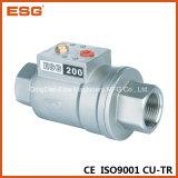 Válvula axial de aço inoxidável pneumática Esg