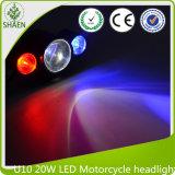Faro 12-80V della luce laser del motociclo di U10 20W LED per l'automobile, motociclo, camion
