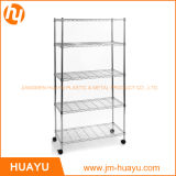 ガレージShelving RackのWire Display Home 5層Mobile Storage Unit Wire Trolly