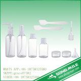 Flaschen-Set des Arbeitsweg-4PCS der kosmetischen Haustier-Flasche