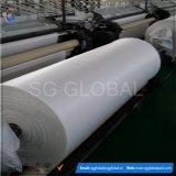 Tissu plat tissé par pp Anti-UV de blanc en roulis