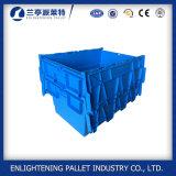 Coffres en plastique solides bleus d'emballage de détail d'emboîtement de pile à vendre