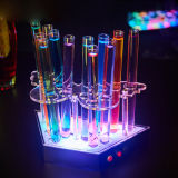 Il nuovo stile 2017 ha personalizzato il basamento acrilico del cocktail della barra LED