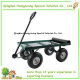 ヤードの園芸テラスのための養樹園のトレーラーの頑丈なカート