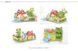 3D zackiges Puzzl Kleinbauer-pflanzendes Modell-Spielzeug-Gebäude