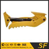 polegar hidráulico da máquina escavadora 1.5t que trabalha com cubeta da máquina escavadora