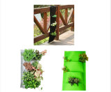 Onlylife 27*54cm 4 карманн самонаводит сад вися засаживающ цветочные горшки мешков